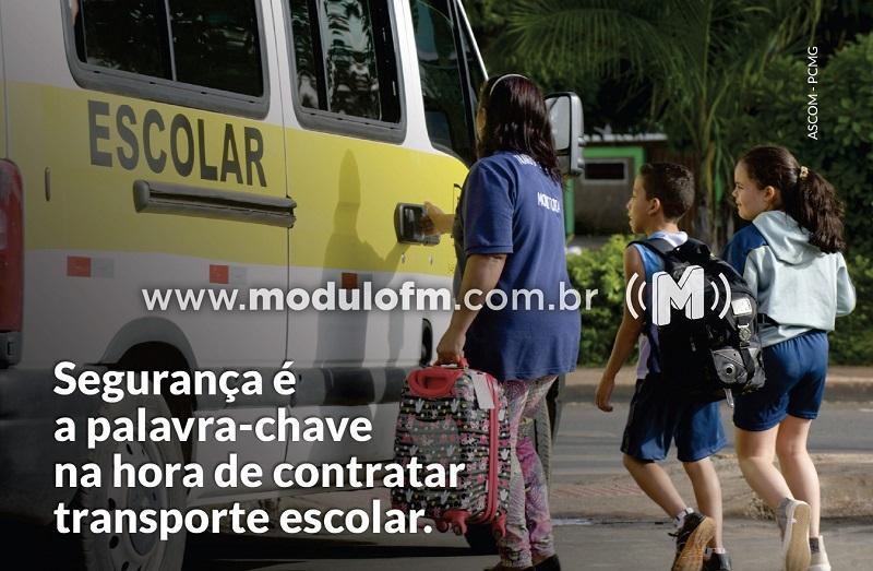 Campanha da Polícia Civil alerta para cuidados ao contratar transporte escolar