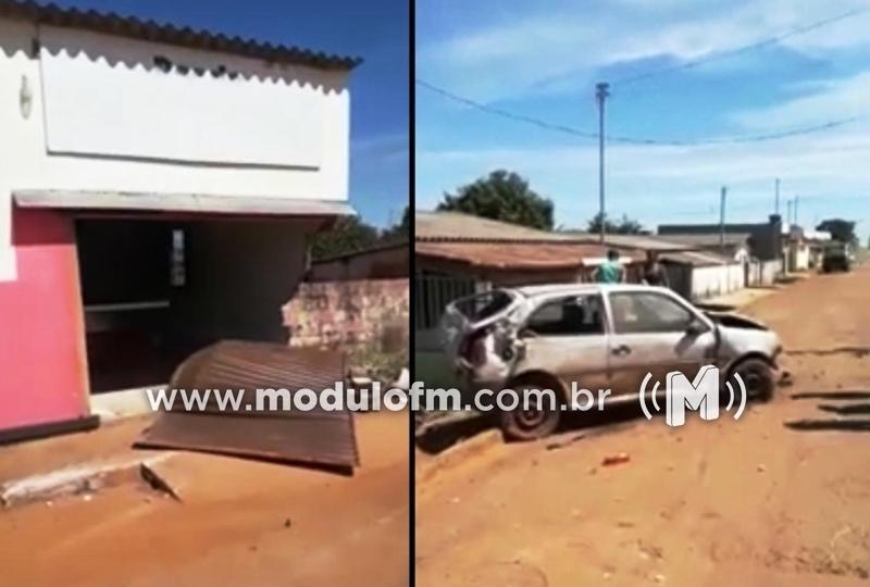 Criminoso furta veículo em Patrocínio e abandona destruído em Rio Paranaíba