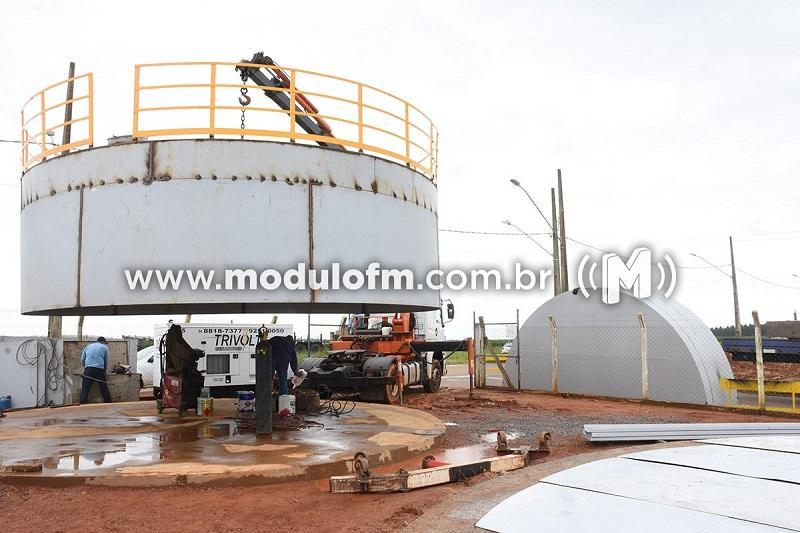 DAEPA inicia instalação de novos reservatórios de água