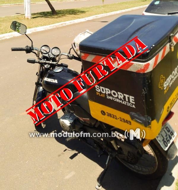 Motoboy tem moto furtada durante entrega no bairro Boa Esperança