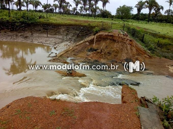 Órgãos de meio ambiente explicam rompimento de barragem que atingiu zona rural de Patrocínio