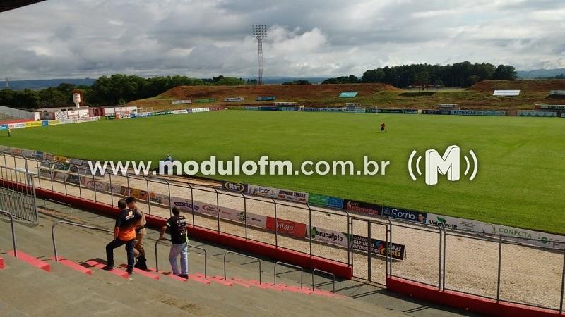Polícia Militar realiza vistoria no Estádio Pedro Alves do Nascimento