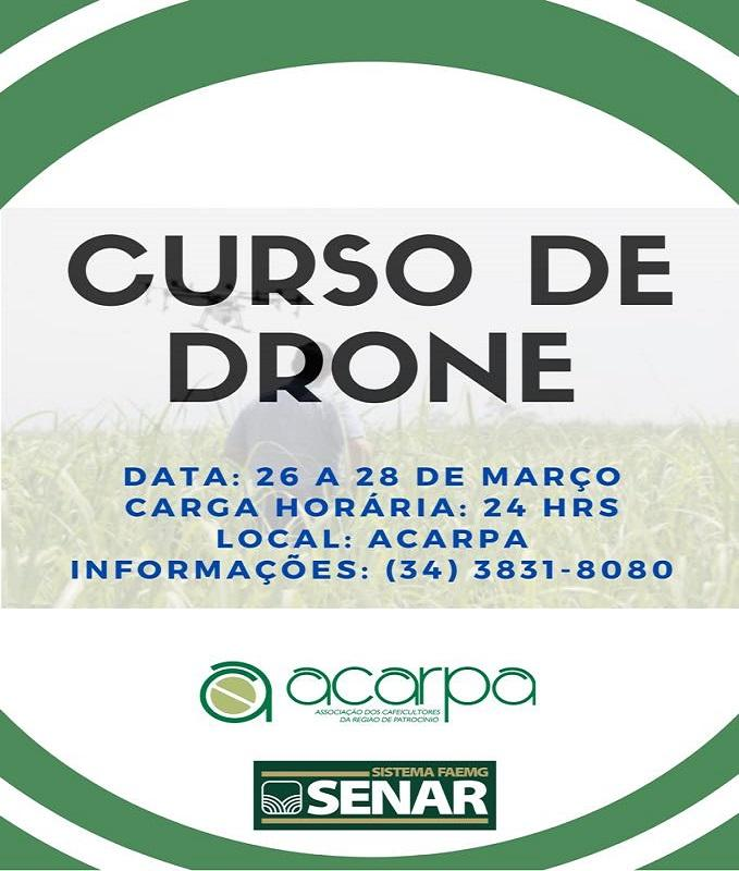 ACARPA e SENAR promovem curso de drone