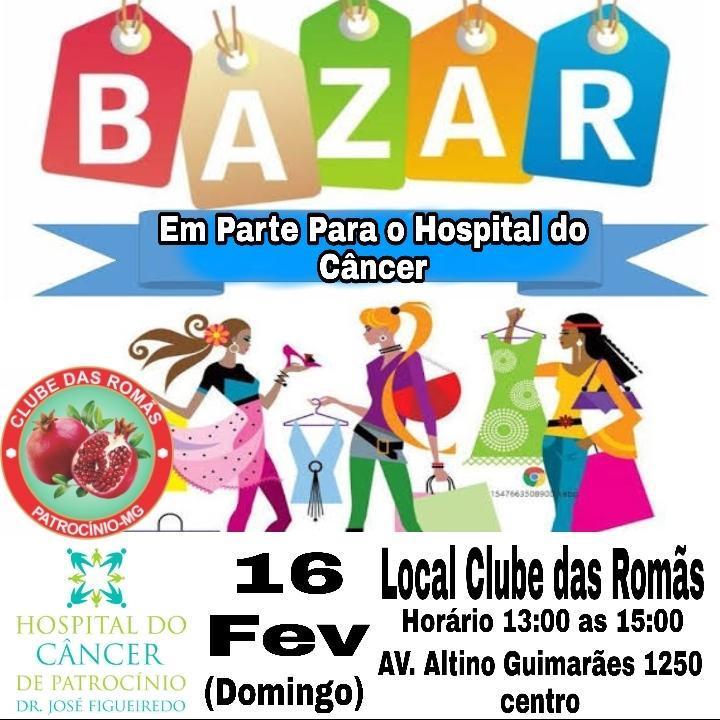 Clube das Romãs promove Bazar em prol do Hospital...