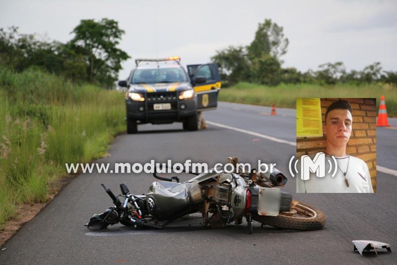 Jovem patrocinense morre em grave acidente na BR-365