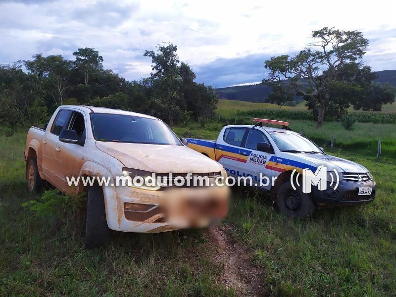 Patrulha Rural recupera caminhonete Amarok tomada de assalto