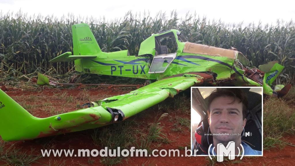 Piloto morre após avião agrícola cair na região rural de Coromandel
