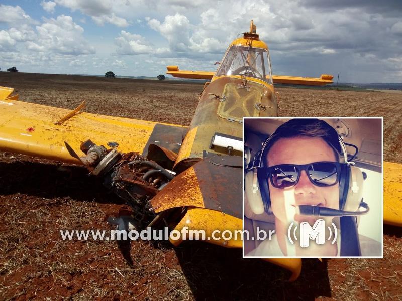Piloto morre após avião agrícola cair na região rural de Patrocínio