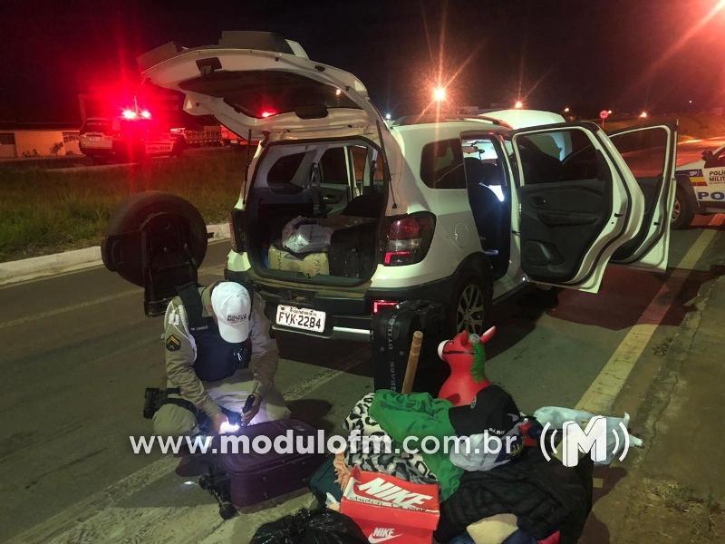 Cinco homens são presos com veículo clonado e com drogas em Serra do Salitre