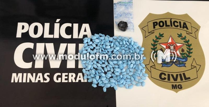 Dois homens são presos por suspeita de tráfico de drogas sintéticas em Serra do Salitre