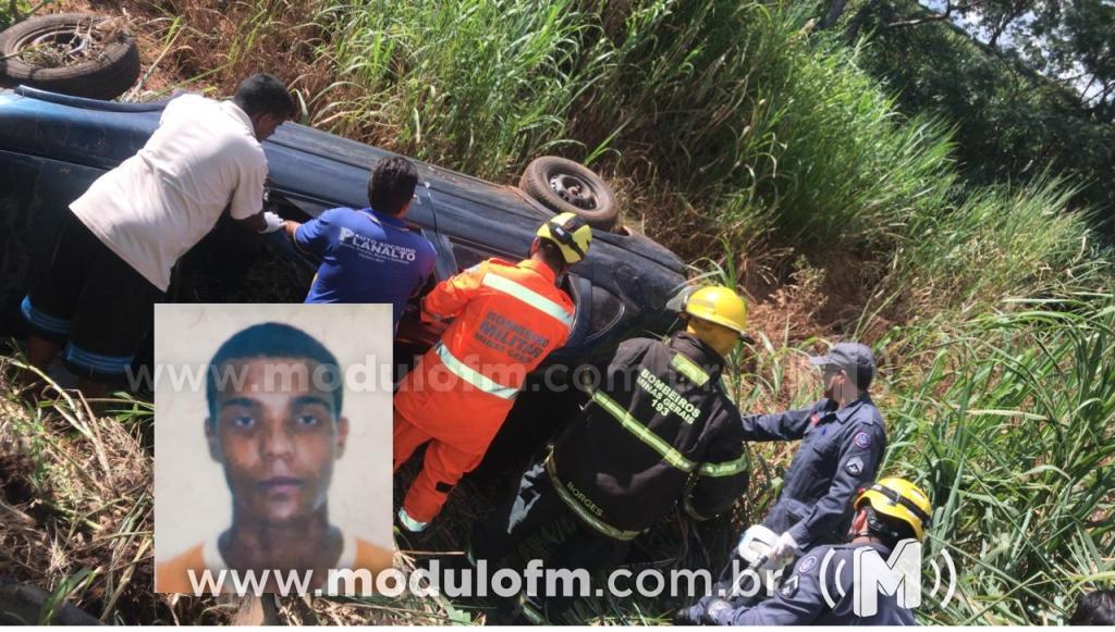 Homem morre e duas pessoas ficam feridas em colisão entre carro e carreta na BR-365 em Patrocínio