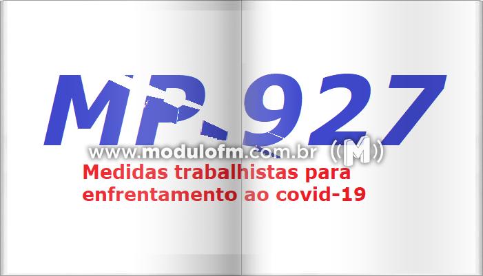 MP 927 Altera lei trabalhista durante pandemia