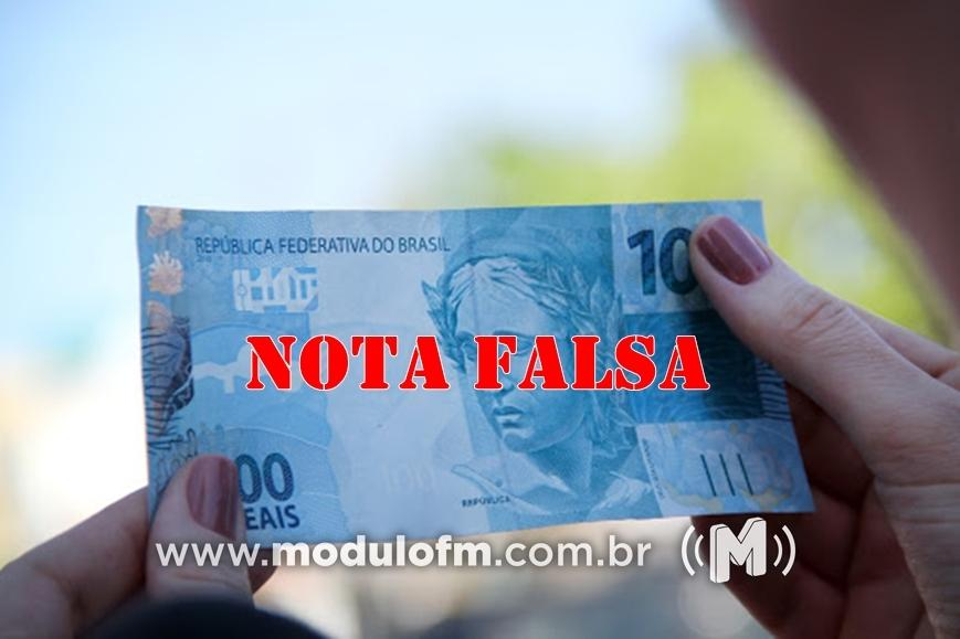 Comerciante recebe nota falsa de R$ 100