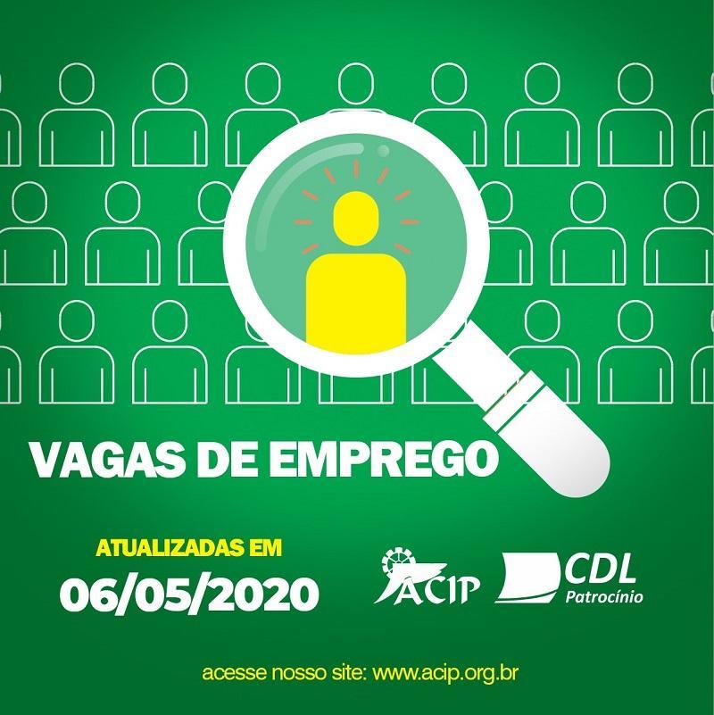 ACIP/CDL divulgam vagas de emprego desta quarta-feira (06/05)