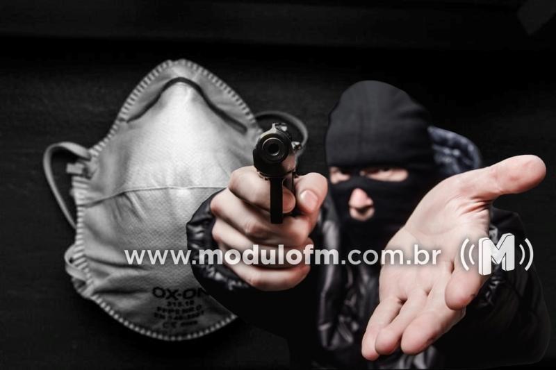 Ladrões usam máscaras contra coronavírus e assaltam farmácia