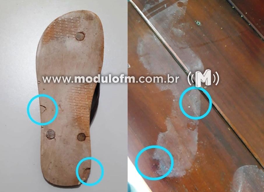 """Pé sujo """"entrega"""" ladrão que deixou pegadas em furto no Terminal Rodoviário de Serra do Salitre"""