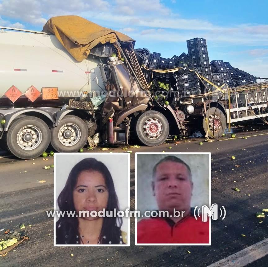 Queimada provoca acidente e mata duas pessoas na BR-365...