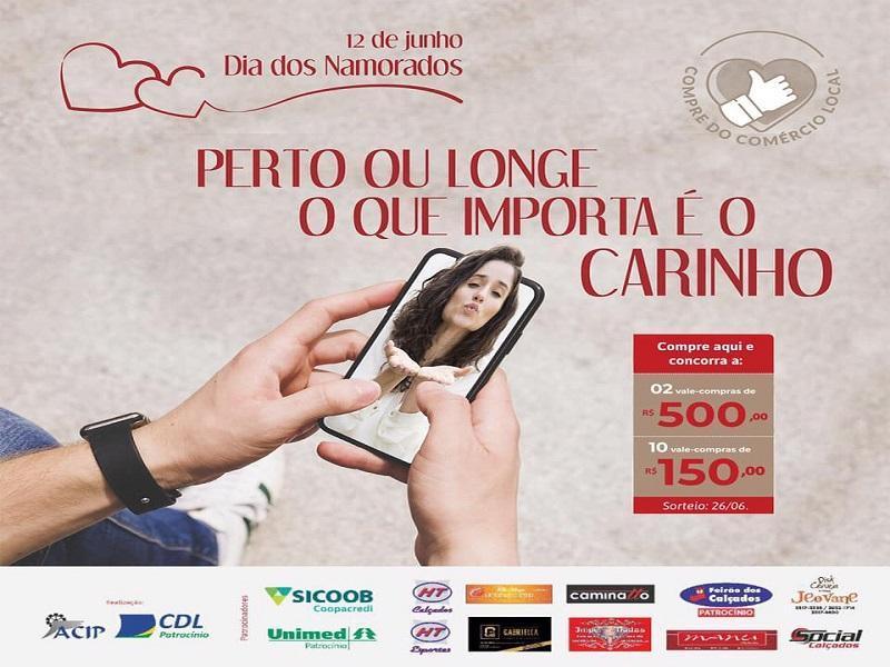 ACIP e CDL iniciam campanha do Dia dos Namorados
