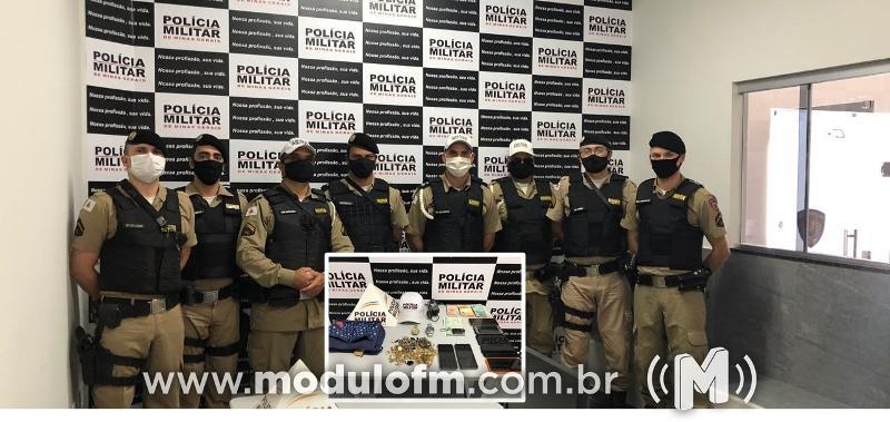 Limeira do Oeste: PM age rápido após assalto em residência e prende sete suspeitos e recupera material roubado