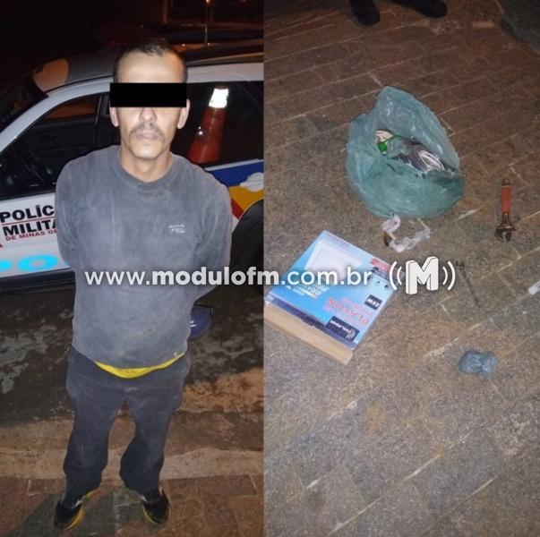 Pelo WhatsApp, moradores rastreiam 'ladrão da lanterna', que é preso pela PM