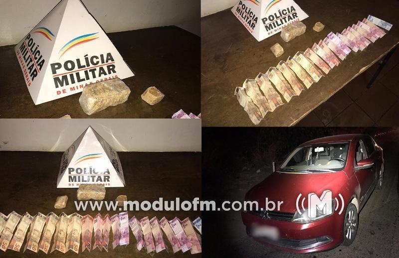 PM intercepta veículo em Patrocínio que buscaria drogas em Uberlândia