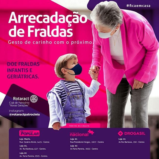 Rotaract Club de Patrocínio promove campanha para arrecadação de fraldas