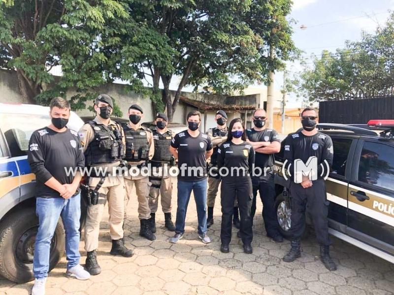 Tenente Coronel Caixeta faz balanço da operação conjunta da Polícia Militar e  Polícia Civil