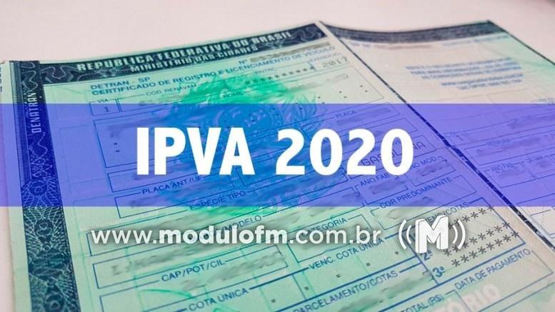 22% dos contribuintes ainda não quitaram IPVA 2020 em Patrocínio e região