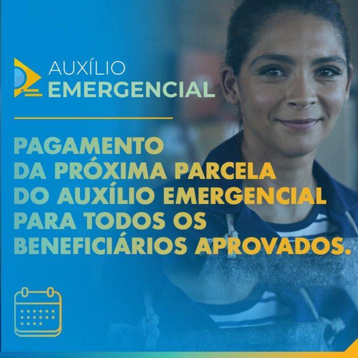CAIXA, iniciou o pagamento das parcelas 4 e 5 do Auxílio Emergencial