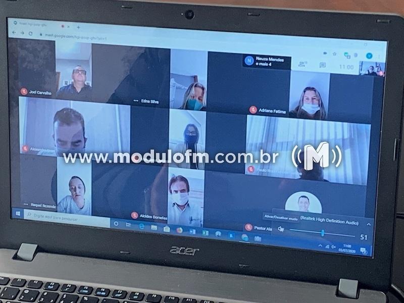 Câmara Municipal de Patrocínio realiza primeira sessão online de sua história