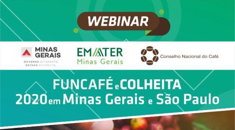 CNC e Emater-MG realizam webinar sobre colheita e Funcafé