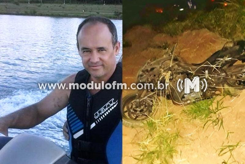 Motociclista de Monte Carmelo morre após bater em barranco