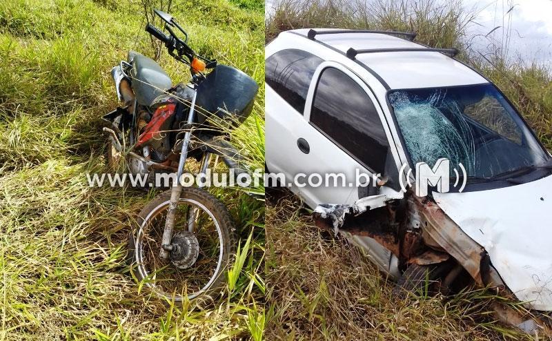 Motociclista na contramão causa acidente e tem pé amputado