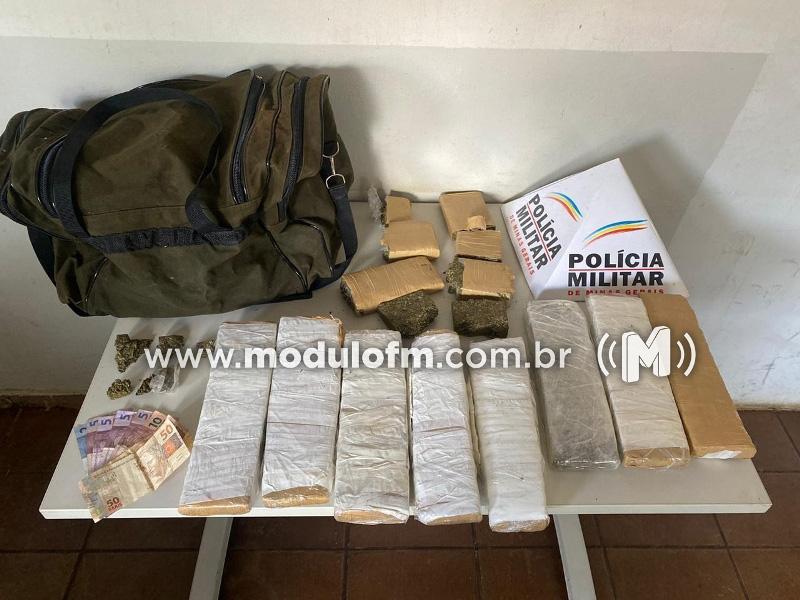 PM intercepta veículo em Patrocínio carregado de drogas em Uberlândia