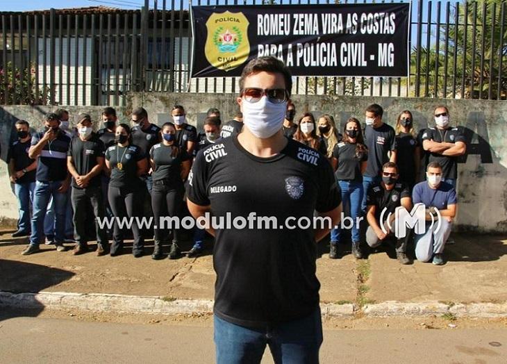 Policiais civis protestam contra reforma da previdência de Minas