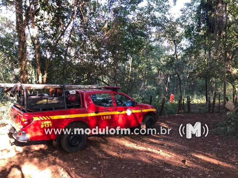 Bombeiros procuram idoso que se afogou no Rio Quebra Anzol região de Serra do Salitre