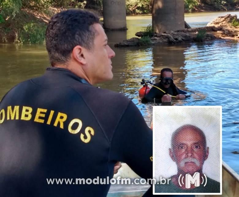 Corpo de idoso que se afogou no Rio Quebra...