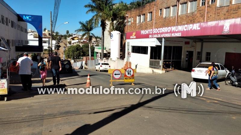 SESTRAN realiza mudanças no tráfego de ruas da região hospitalar