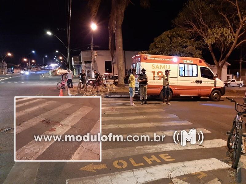Adolescente fica gravemente ferido após ser atropelado e motorista foge sem prestar socorro