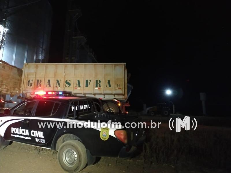 Carga furtada de milho avaliada em R$ 35 mil é recuperada pela Polícia Civil