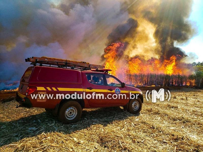 Corpo de Bombeiros alerta para riscos de queimadas