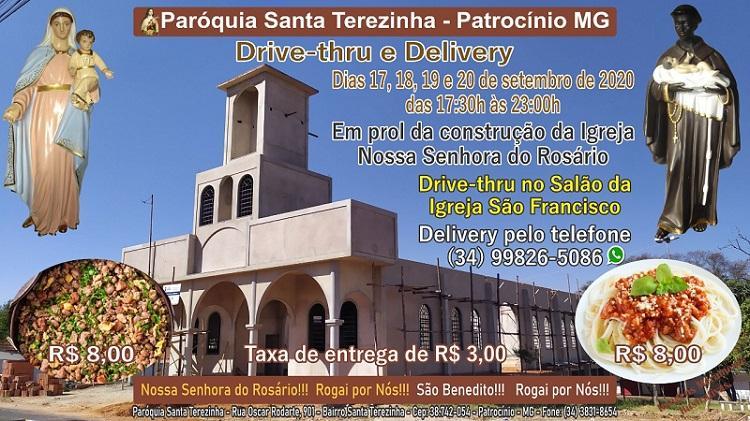 Paróquia Santa Terezinha realiza drive-thru em prol de construção da Igreja Nossa Senhora do Rosário