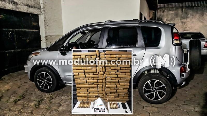 PM intercepta veículo com cerca de 200 kg de droga carregada em Mato Grosso do Sul