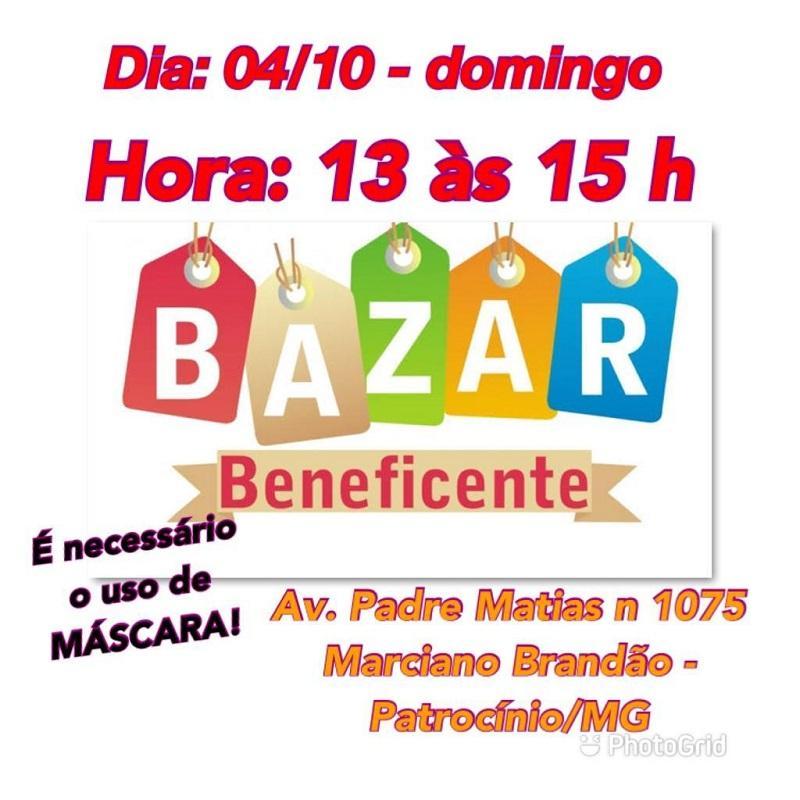 Bazar Beneficente neste domingo (04/10)