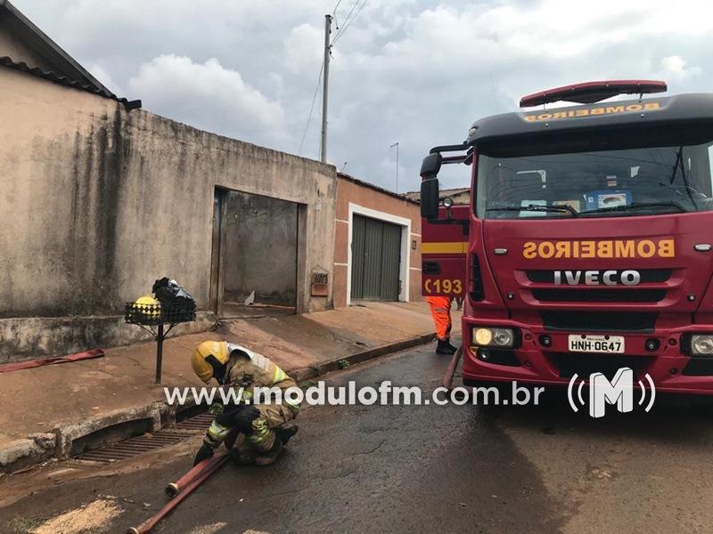 Crianças provocam princípio de incêndio em residência