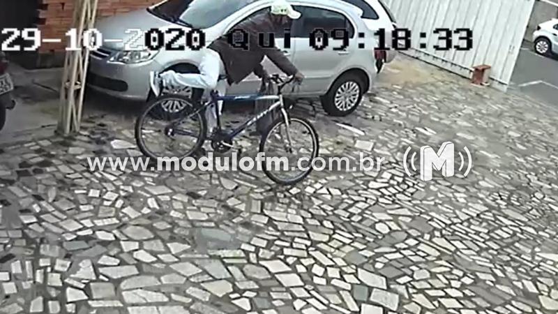 Veja o vídeo: Câmeras flagram furto de bicicleta em escritório de Contabilidade
