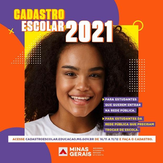 Cadastro escolar para 2021 é aberto na rede pública de ensino