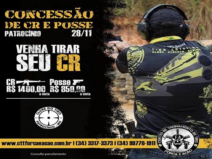 Clube do Tiro de Patrocínio promove evento para concessão de CR