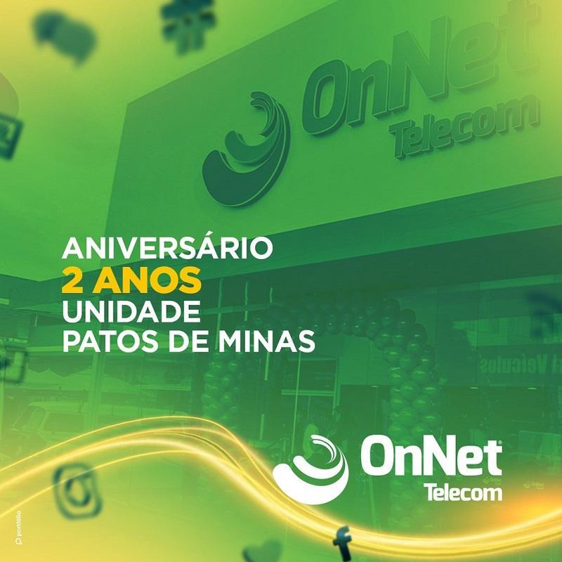 OnNet Telecom completa dois anos de inauguração em Patos de Minas
