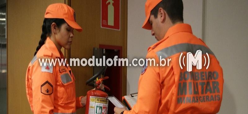 'Operação Alerta Vermelho': bombeiros realizam vistorias em estabelecimentos comerciais